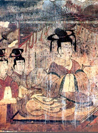 Goguryeo tomb murals for Chinese mural painting